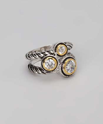 Silver & Gold Trio Ring