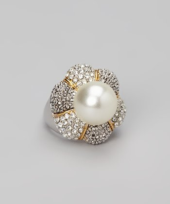 Pearl & Gold Sparkle Ring
