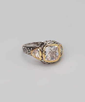 Silver & Gold Cushion Ring