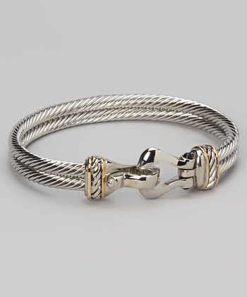 Silver & Gold Loop Bangle