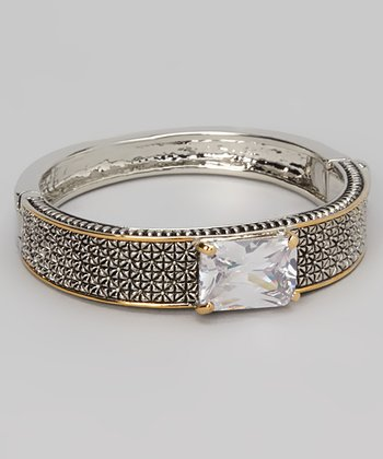 Silver & Gold Sparkle Rectangle Bracelet