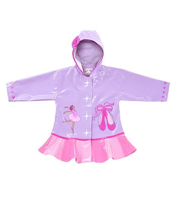 Purple & Pink Ballerina Raincoat - Infant, Toddler & Kids