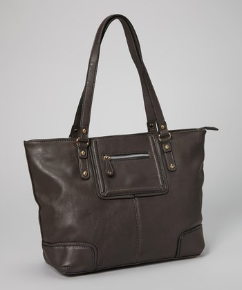 Dark Gray Zip Tote