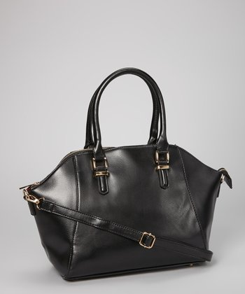 Black Buckle Strap Tote