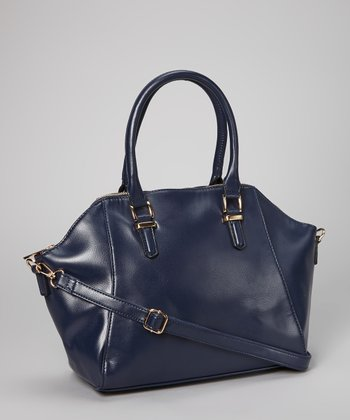 Deep Blue Buckle Strap Tote