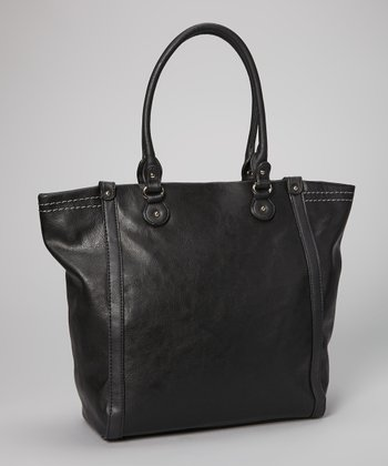 Black Topstitch Tote