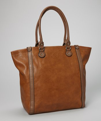 Brown Topstitch Tote