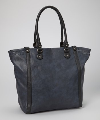Dark Blue Topstitch Tote