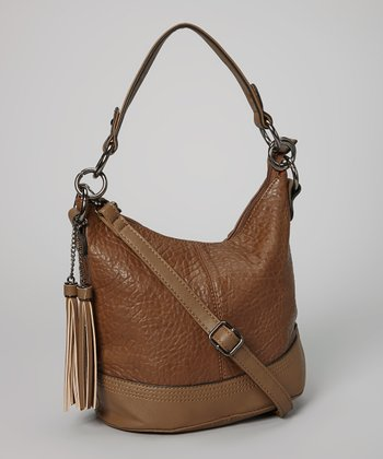 Taupe Pebbled Hobo