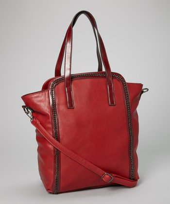 Bordeaux Chain Embellished Tote
