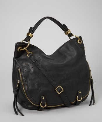Black Zipper Hobo