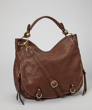 Brown Zipper Hobo