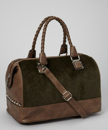 Khaki Plush Satchel