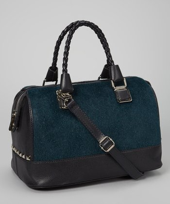 Blue Plush Satchel