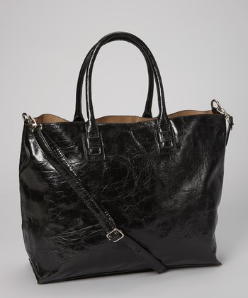 Black Distressed Tote