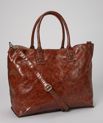 Dark Brown Distressed Tote