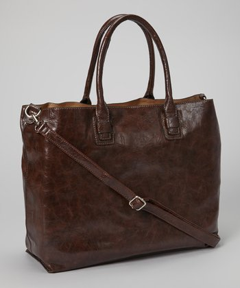 Brown Distressed Tote