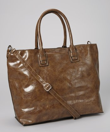Dark Camel Distressed Tote