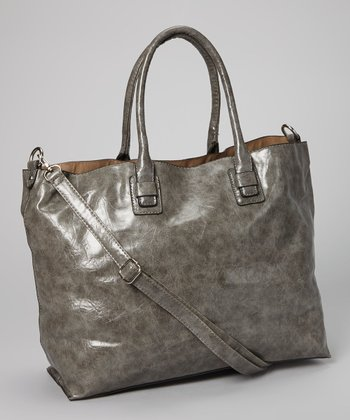Dark Gray Distressed Tote