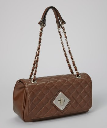 Dark Brown Quilted Shoulder Bag
