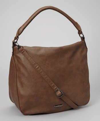 Taupe Embellished Hobo