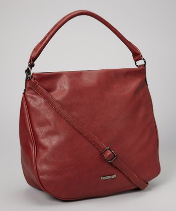 Bordeaux Embellished Hobo