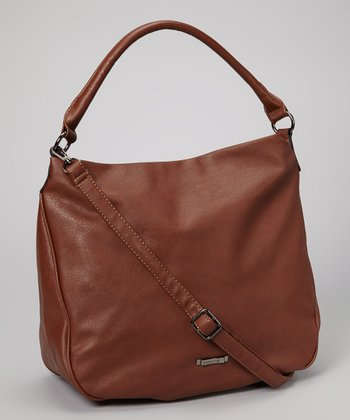 Brown Embellished Hobo