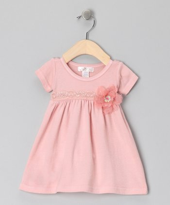 Tawny Peach Bella Babydoll Dress - Infant
