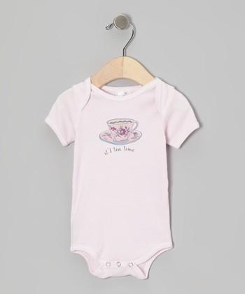 Truffles Ruffles Pink 'It's Tea Time' Bodysuit - Infant