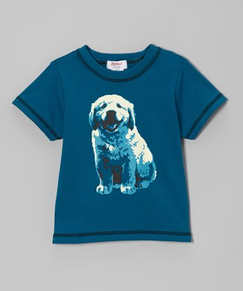 Pagoda Blue Puppy Short-Sleeve Tee - Toddler