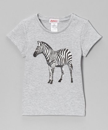 Gray Zebra Tee - Toddler