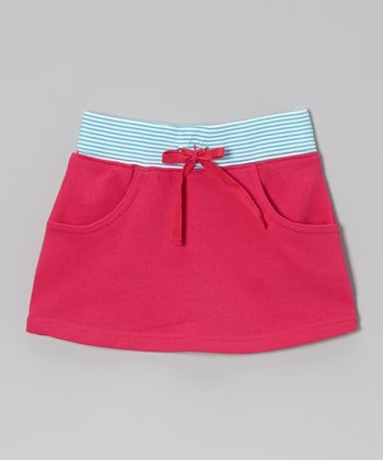Fuchsia & Teal Stripe Skirt - Toddler