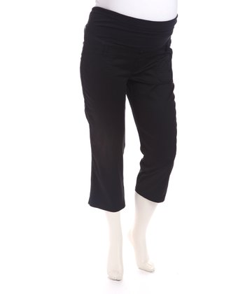 Black Bedford Maternity Capri Pants