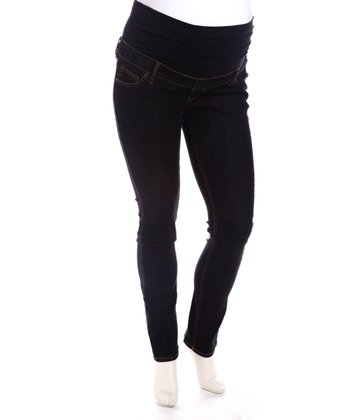 Black Denim Skinny Maternity Jeans