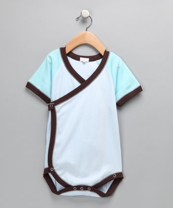 Light Blue & Brown Bodysuit
