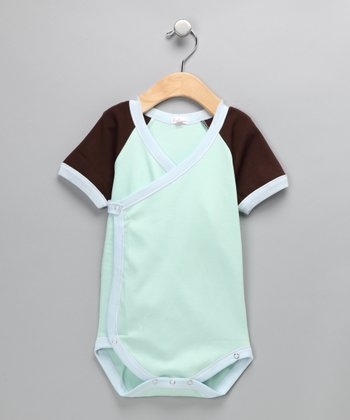 Seagreen & Light Blue Bodysuit