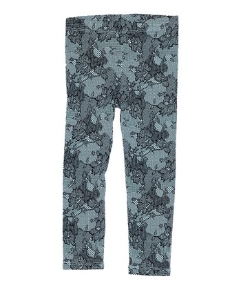 Blue Lace Leggings - Toddler & Girls