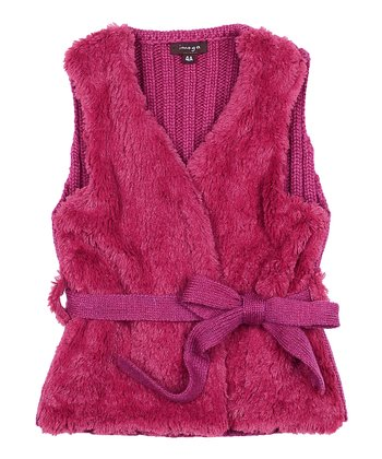 Pink Camilla Faux Fur Vest - Toddler & Girls