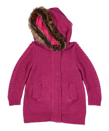 Pink Camilla Faux Fur-Lined Coat - Toddler & Girls