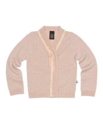 Crème Ruffle Cardigan - Toddler & Girls