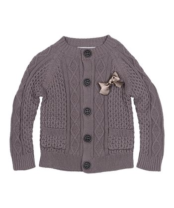 Macademia Bow Cardigan - Toddler & Girls