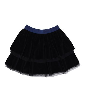 Black Mesh Pleated Skirt - Toddler & Girls