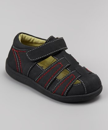 See Kai Run Black Nubuck Ryan Closed-Toe Sandal