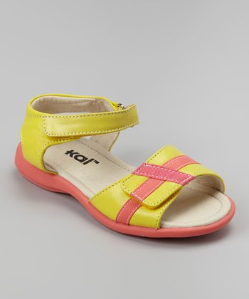 Yellow Mayce Ray Ankle-Strap Sandal