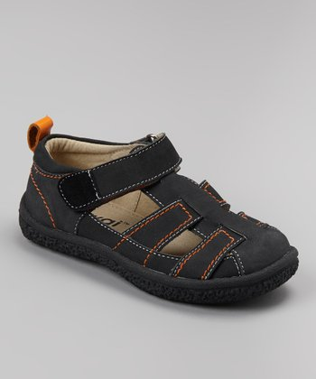 Black Christopher Closed-Toe Sandal