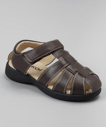 See Kai Run Brown Dillon Closed-Toe Sandal
