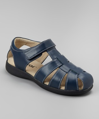 Navy Dillon Closed-Toe Sandal