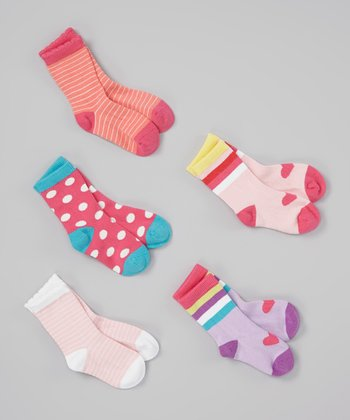 Pink & Orange Organic Socks Set