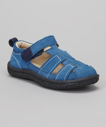 Blue Nubuck Christopher Closed-Toe Sandal