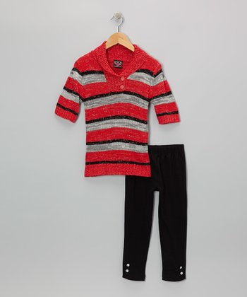 Red Stripe Tunic & Leggings - Infant, Toddler & Girls